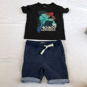 Toddlers boy mix and match set.